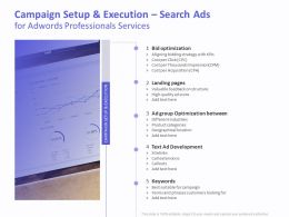 Campaign Setup And Execution Search Ads For AdWords Professionals Services Ppt Template