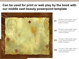 Can Be Used For Print Or Web Play By The Book With Our Middle East Beauty Template