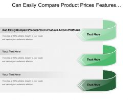 Can Easily Compare Product Prices Features Across Platforms