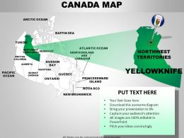 Canada Country Powerpoint Maps