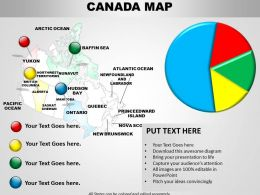 Canada Map And Pie Chart 1114