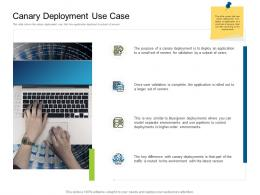 Canary Deployment Use Case Deployments Ppt Professional