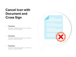 Cancel Icon With Document And Cross Sign