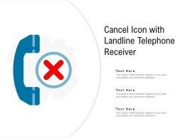 Cancel Icon With Landline Telephone Receiver