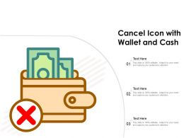 Cancel Icon With Wallet And Cash