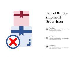 Cancel Online Shipment Order Icon