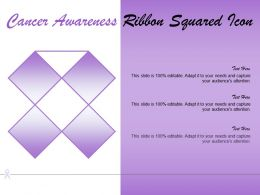 Cancer Awareness Ribbon Squared Icon