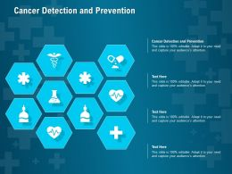 Cancer Detection And Prevention Ppt Powerpoint Presentation Outline Slide