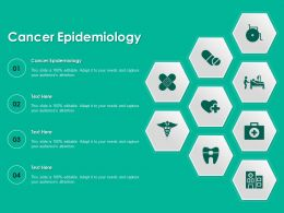 Cancer Epidemiology Ppt Powerpoint Presentation Model Diagrams