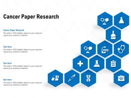 Cancer Paper Research Ppt Powerpoint Presentation Ideas Master Slide