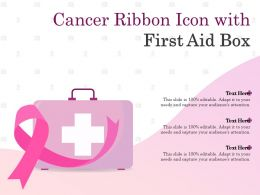 Cancer Ribbon Icon With First Aid Box