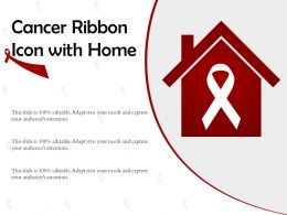 Cancer Ribbon Icon With Home