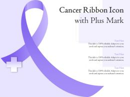 Cancer Ribbon Icon With Plus Mark