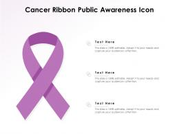 Cancer Ribbon Public Awareness Icon