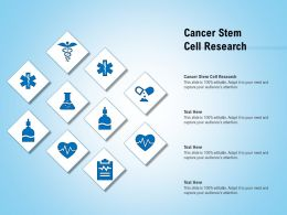 Cancer Stem Cell Research Ppt Powerpoint Presentation Model Gallery