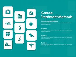 Cancer Treatment Methods Ppt Powerpoint Presentation Layouts Example File