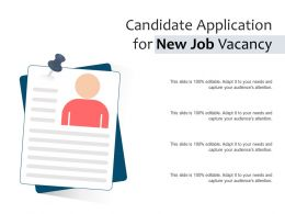 Candidate Application For New Job Vacancy