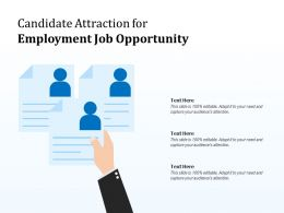 Candidate Attraction For Employment Job Opportunity