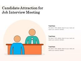 Candidate Attraction For Job Interview Meeting