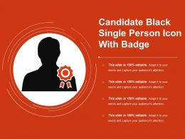 Candidate Black Single Person Icon With Badge