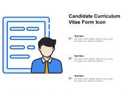 Candidate Curriculum Vitae Form Icon