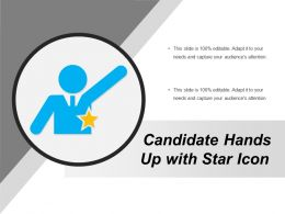 Candidate Hands Up With Star Icon