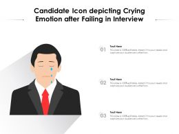 Candidate Icon Depicting Crying Emotion After Failing In Interview