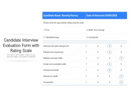 Candidate Interview Evaluation Form With Rating Scale