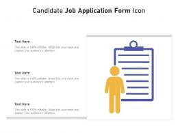 Candidate Job Application Form Icon