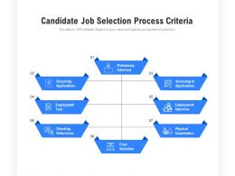 Candidate Job Selection Process Criteria
