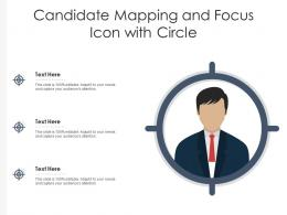 Candidate Mapping And Focus Icon With Circle