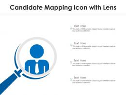 Candidate Mapping Icon With Lens