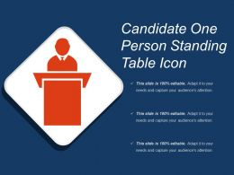 Candidate One Person Standing Table Icon