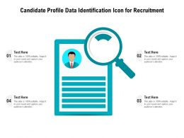 Candidate Profile Data Identification Icon For Recruitment