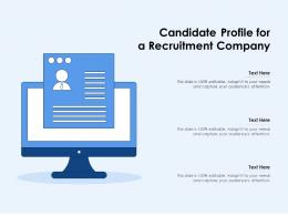 Candidate Profile For A Recruitment Company