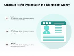 Candidate Profile Presentation Of A Recruitment Agency