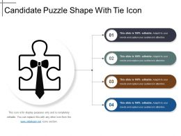 Candidate Puzzle Shape With Tie Icon