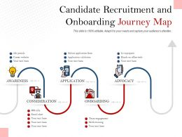 Candidate Recruitment And Onboarding Journey Map
