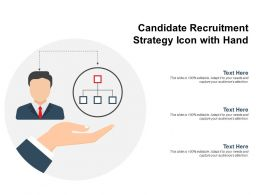 Candidate Recruitment Strategy Icon With Hand