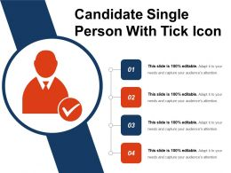 Candidate Single Person With Tick Icon