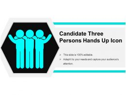 Candidate Three Persons Hands Up Icon