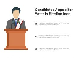 Candidates Appeal For Votes In Election Icon