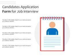 Candidates Application Form For Job Interview