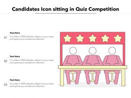Candidates Icon Sitting In Quiz Competition