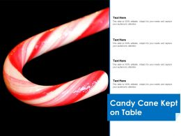Candy Cane Kept On Table