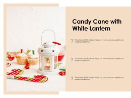 Candy Cane With White Lantern