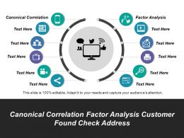 Canonical Correlation Factor Analysis Customer Found Check Address