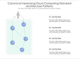 Canonical Versioning Cloud Computing Standard Architecture Patterns Ppt Presentation Diagram