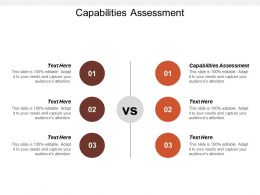 Capabilities Assessment Ppt Powerpoint Presentation File Example Cpb