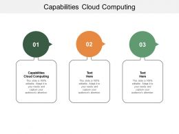 Capabilities Cloud Computing Ppt Powerpoint Presentation Summary Design Cpb